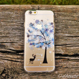 MADE IN JAPAN Soft Clear iPhone 6/6s Case - Reindeer Snow Tree - Dhouse USA - 3