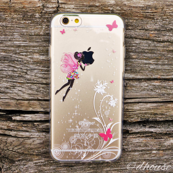 MADE IN JAPAN Soft Clear iPhone 6/6s Case - Butterfly Fairy - Dhouse USA - 3