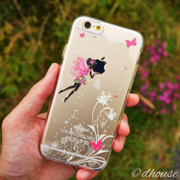 MADE IN JAPAN Soft Clear iPhone 6/6s Case - Butterfly Fairy - Dhouse USA - 4