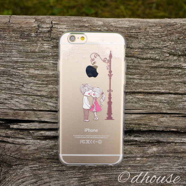 MADE IN JAPAN Soft Clear Case - Love Couple Kiss for iPhone 6/6s - Dhouse USA - 2