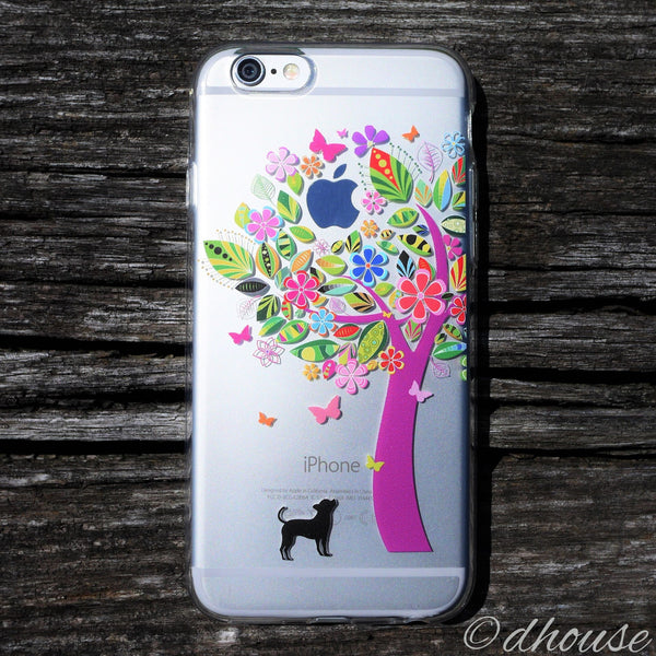 MADE IN JAPAN Soft Clear Case - Doggie Color Tree for iPhone 6/6s - Dhouse USA - 1