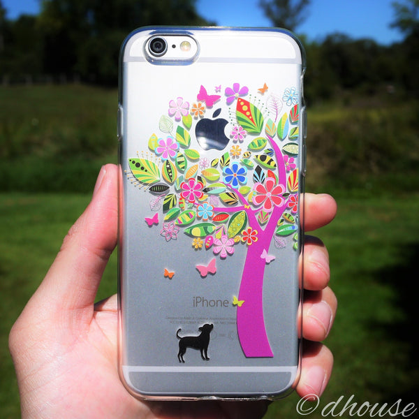 MADE IN JAPAN Soft Clear Case - Doggie Color Tree for iPhone 6/6s - Dhouse USA - 3