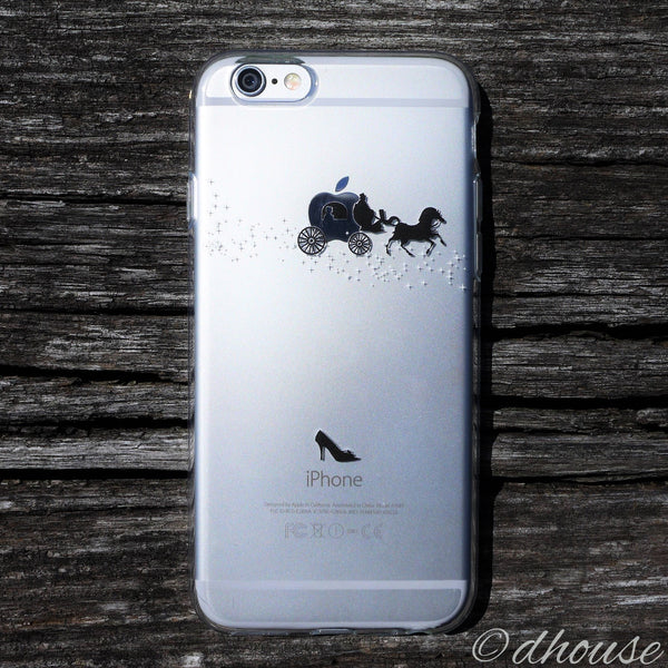 MADE IN JAPAN Soft Clear iPhone Case - Cinderella Carriage - Dhouse USA - 3