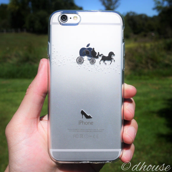 MADE IN JAPAN Soft Clear iPhone Case - Cinderella Carriage - Dhouse USA - 1