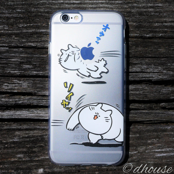 MADE IN JAPAN Soft Clear iPhone Case - Anime Cats for iPhone 6/6s Plus - Dhouse USA - 6