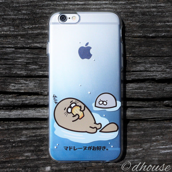 MADE IN JAPAN Soft Clear iPhone 6/6s Case - Blue Sea Lion - Dhouse USA - 1