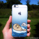 MADE IN JAPAN Soft Clear iPhone 6/6s Case - Blue Sea Lion - Dhouse USA - 3