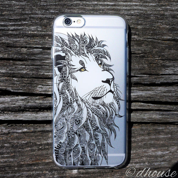 MADE IN JAPAN Soft Clear iPhone Case - Lion Head Art - Dhouse USA - 1