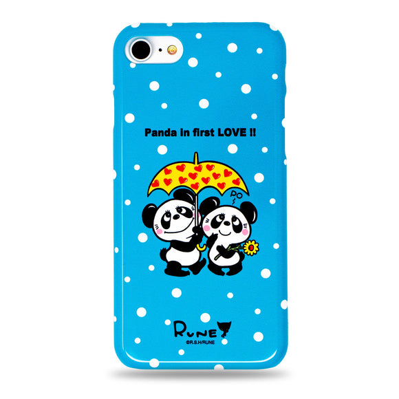 Cute Panda in First Love Snap iPhone Case Blue by Rune Made in Japan