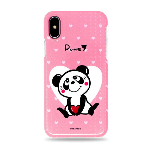 Cute Panda Snap iPhone Case Pink by Rune Made in Japan