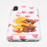 Suzy's Zoo Witzy Duck and Boof Bear Heart White Snap iPhone Case