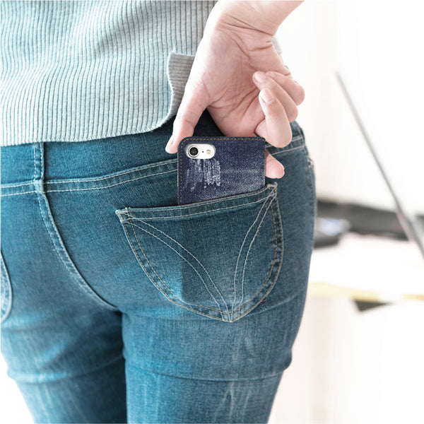 Made in Japan Ripped Denim Jean Wallet Case