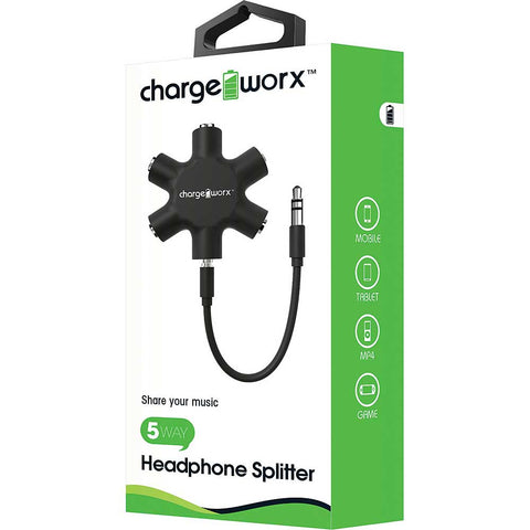CHARGEWORX 5-Way Headphone Splitter