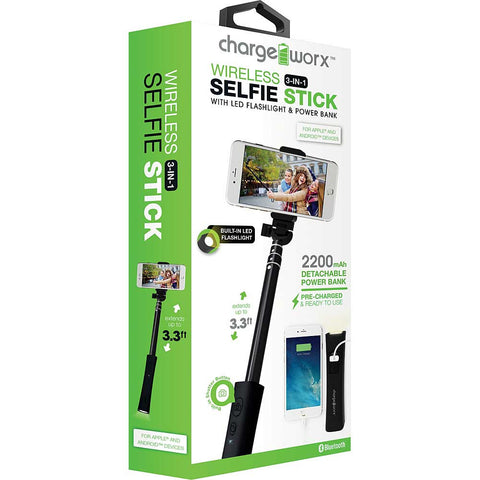 CHARGEWORX Selfie Scope with built-in flashligh & power bank