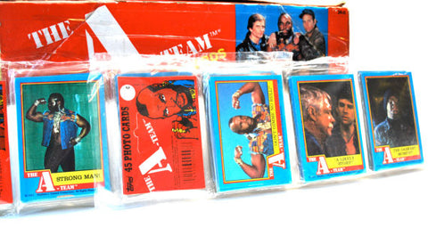 Paquets cartes collection A-Team 1983 - 45 cartes
