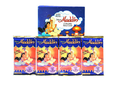 PAQUETS CARTES COLLECTION ALADDIN 1993 - 13 cartes + 1 sticker + 1 carte de jeu
