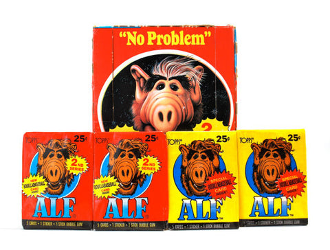 Paquets cartes collection Alf 1987 - 5 cartes + 1 sticker + 1 chewing-gum