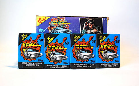 Paquets cartes collection Back To The Future 2 1989 - 9 cartes + 1 sticker + 1 chewing-gum