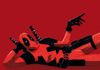 "Poster Deadpool ""I'm touching myself tonight"""