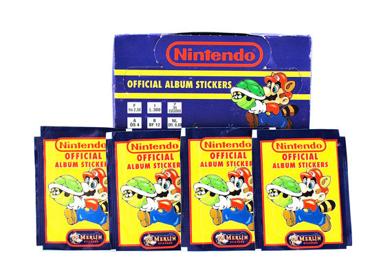 Paquets cartes collection Nintendo 1992 - 6 stickers