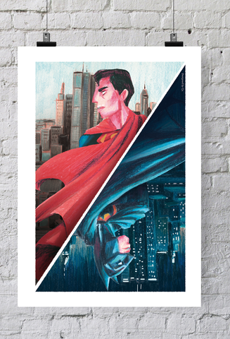 Poster Batman vs Superman par Cy !