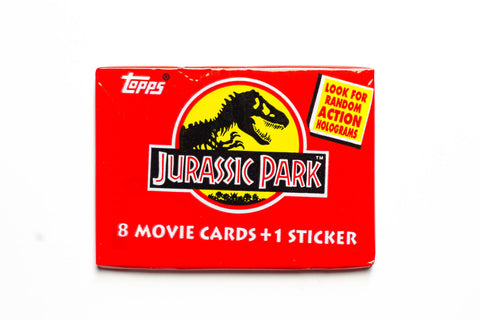 Paquets cartes collection Jurassic Park 1992 - 8 cartes + 1 sticker