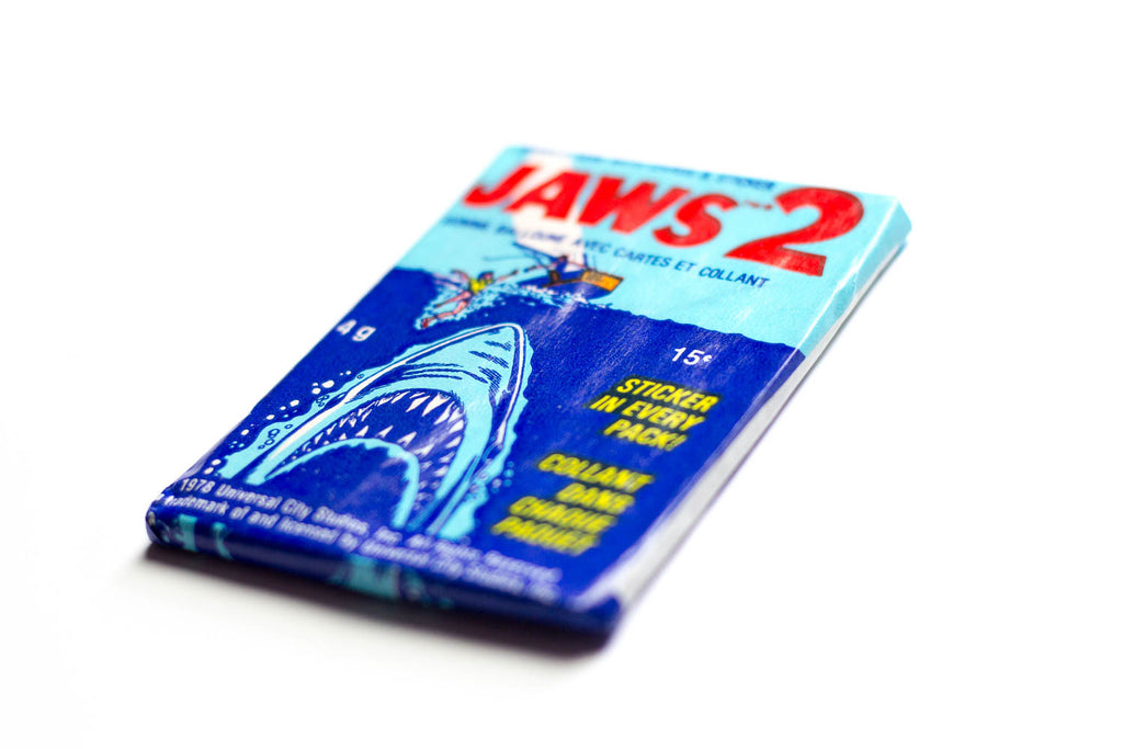 Paquets cartes collection JAWS 2 1978 - 6 cartes + 1 sticker + 1 chewing-gum
