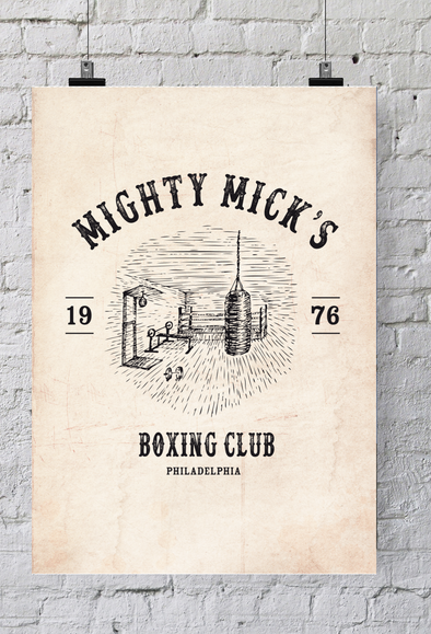"Poster ""Mighty Mick's Boxing Cub"""