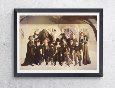 Affiche de groupe Harry Potter