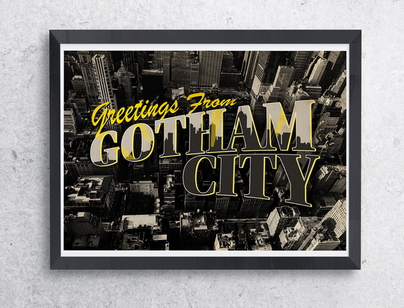 "Poster ""Greetings from Gotham"""