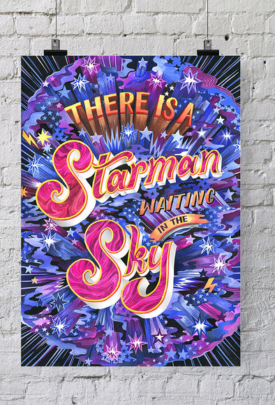 Poster David Bowie - There's a Starman