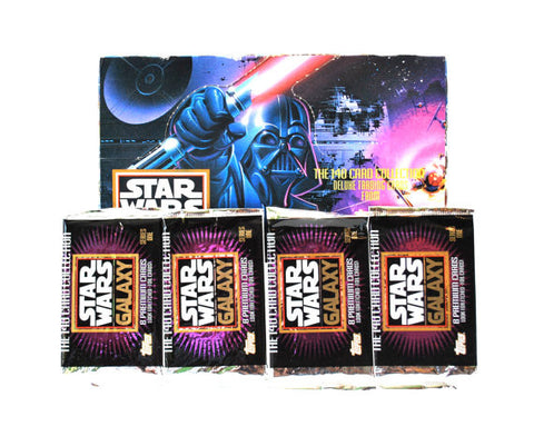 PAQUETS CARTES COLLECTION STAR WARS GALAXY 1993 - 8 CARTES