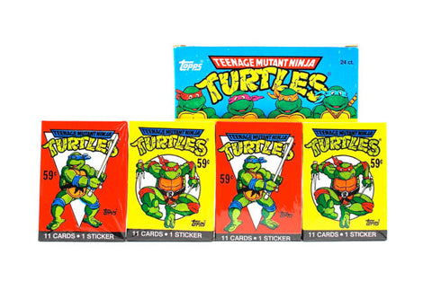 PAQUETS CARTES COLLECTION TEENAGE MUTANT NINJA TURTLES 1989 - 11 CARTES + 1 STICKER