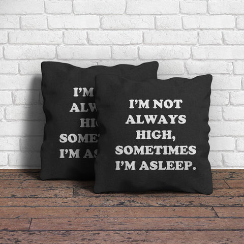 Always Sometimes Throw Pillow