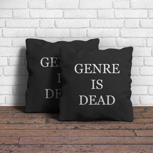 Genre Is Dead Throw Pillow