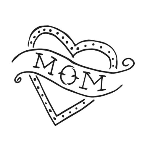 Heart Mom - Highjacked Tattoos - Lasts Two-Weeks - 100% Organic - Gluten Free - Free shipping within the U.S.