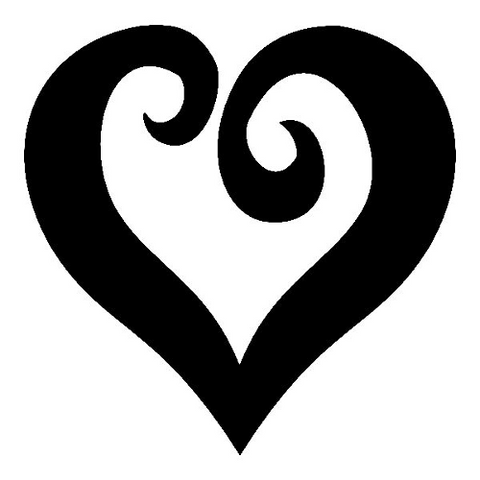 Curly Heart - Highjacked Tattoos - Lasts Two-Weeks - 100% Organic - Gluten Free - Free shipping within the U.S.