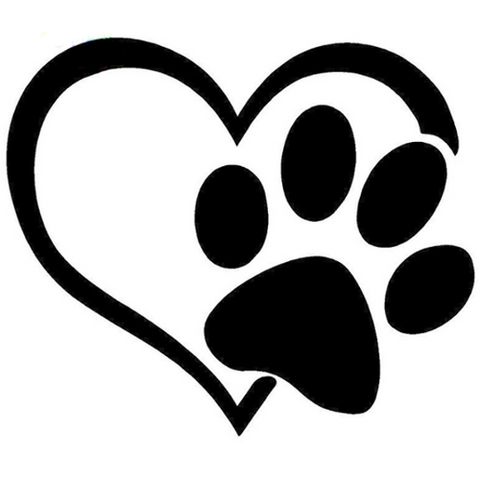 Heart with Paw Print - Highjacked Tattoos - Lasts Two-Weeks - 100% Organic - Gluten Free - Free shipping within the U.S.