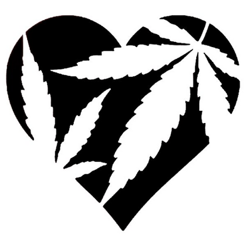 I Heart Mary Jane - Highjacked Tattoos - Lasts Two-Weeks - 100% Organic - Gluten Free - Free shipping within the U.S.