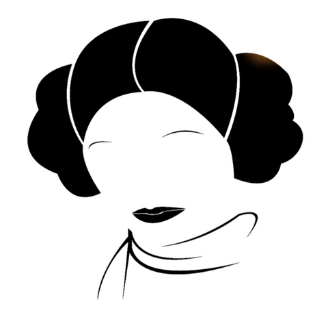 Star Wars Princess Leia face outline Highjacked Tattoo