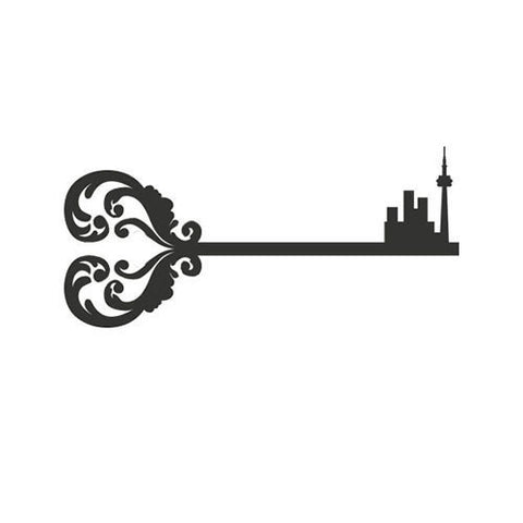 Llave OG (Toronto skyline) - Highjacked Tattoos - Lasts Two-Weeks - 100% Organic - Gluten Free - Free shipping within the U.S.