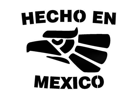 Hecho en México (Made in Mexico) - Highjacked Tattoos - Lasts Two-Weeks - 100% Organic - Gluten Free - Free shipping within the U.S.