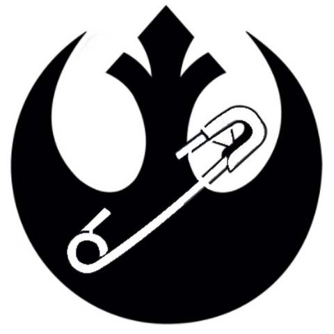 Rebellion Symbol w/Safety-Pin