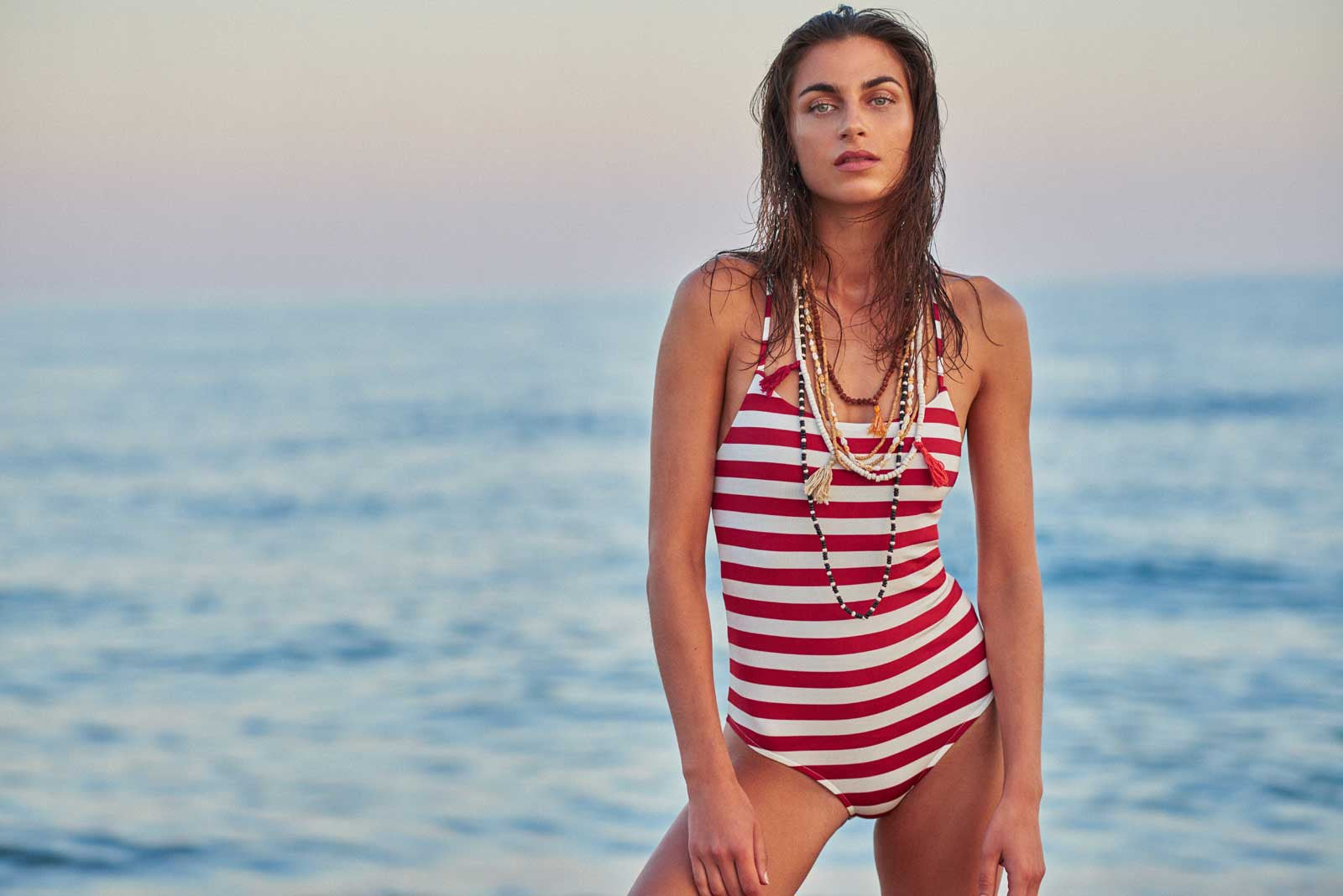 Sinka One Piece Swimsuit in Stripes by Serendipity