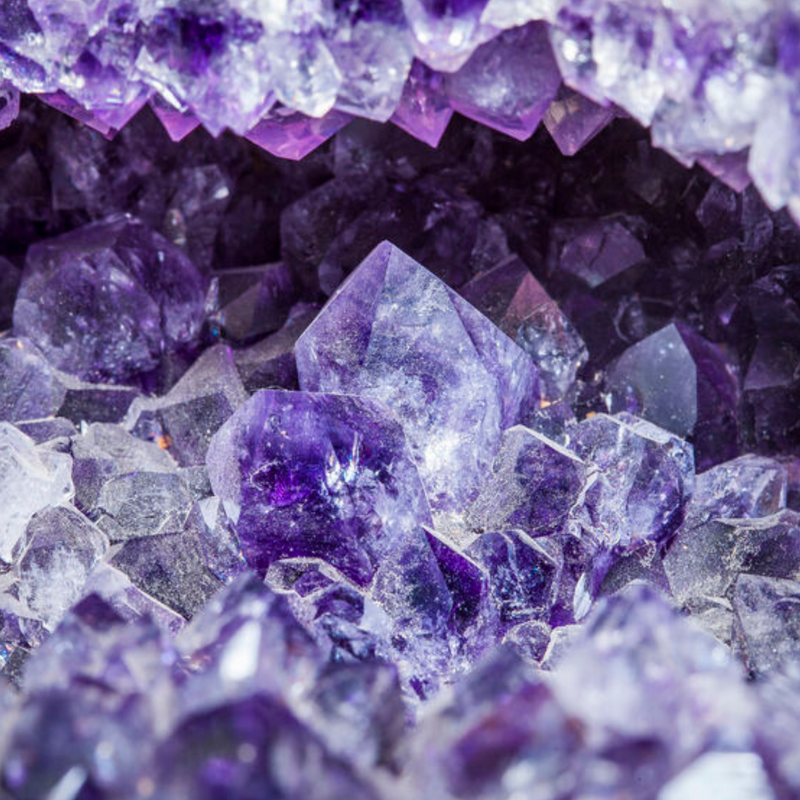 Amethyst. February birthstone.