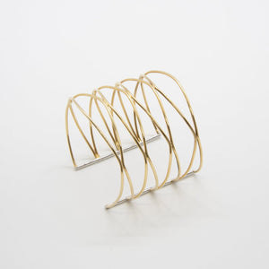 CONNECTION Cuff: 14kt yellow gold and silver