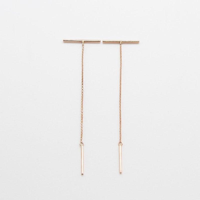 MIKADO Earrings: 14kt rose gold