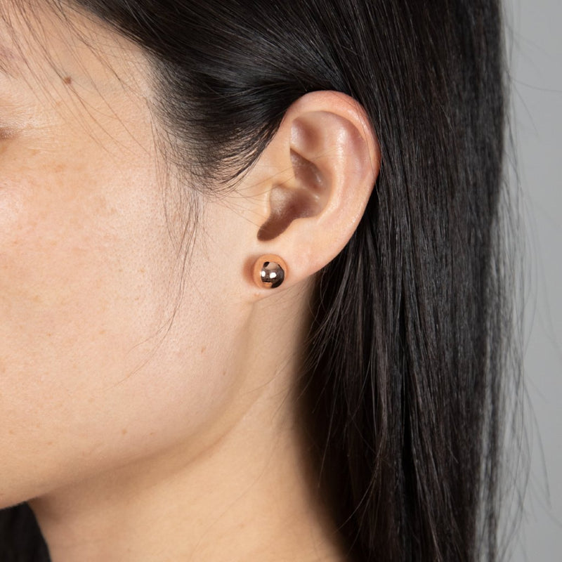COCOON CONIC Earrings: 14kt rose gold
