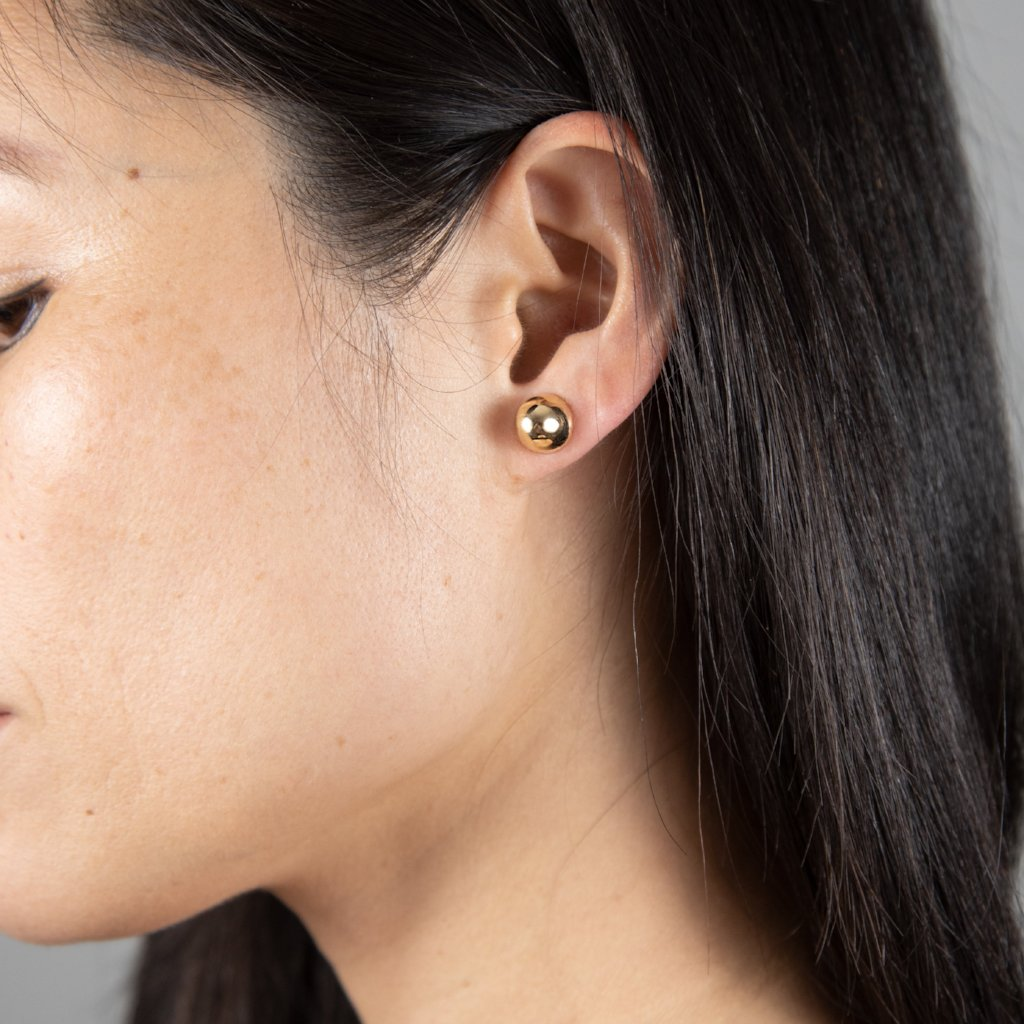 COCOON CONIC Earrings: 14kt yellow gold