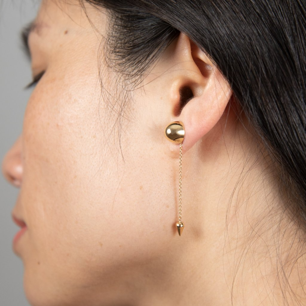 CONIC ADD-ON Earrings: 14kt yellow gold